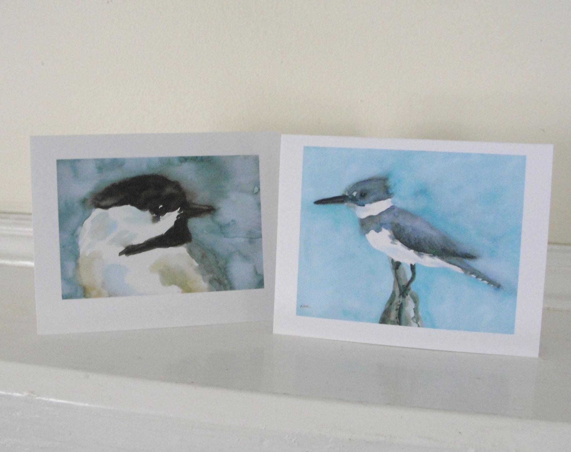 Favorite Birds Watercolor Notecards  Set Of 4